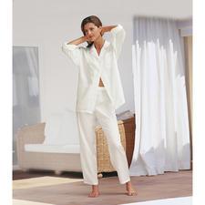 Seiden-Pyjama mit Etui - Erschwinglicher Luxus zum Verlieben. Mit Reise-Etui.