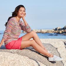 Multicolor-Baumwollpullover - 15 Farben – für unzählige Kombinationen. Aus handgefärbter Baumwolle: Jeder Pullover ein Unikat.