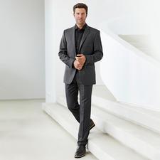 Lagerfeld-Woll-Seiden-Anzug - Edles Tuch mit Seide. Modisches Muster. Original Lagerfeld. Und doch nur 499,– Euro.
