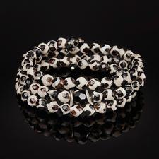 langani Tibet-Achat-Armreif - Der Armreif aus seltenem Tibet-Achat: Jede Perle ein Unikat.