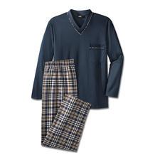 Lieblings-Pyjama, lang No. 4 - Ihr Lieblings-Pyjama. Reine Baumwolle, sauber verarbeitet. Als Lang-Version für die kühlere Jahreszeit.