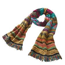 IVKO Jacquard-Schal - Prächtige Farben, lebendige Muster: rar gewordene Strickkunst aus Serbien.