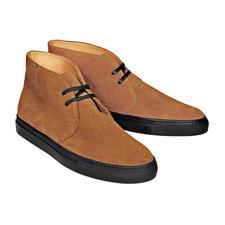 Bernacchini Kalbvelours-Chukka-Boots - Feinstes Kalbvelours – wetter- und winterfest dank Scotchgard™-Ausrüstung.