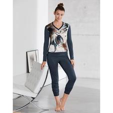 Seiden-Modal-Pyjama Aquarell - Viel mehr als ein Pyjama: ein kleines Kunstwerk zum Anziehen.