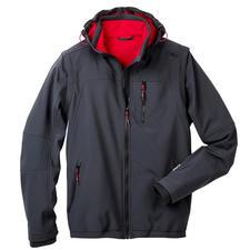 Soft Shell-Herrenjacke, Grau - Schlank, leicht und trotzdem warm: die Jacke aus Soft Shell, mit WindProtect®.