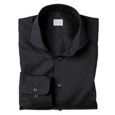 Dorani Coolmax®-Business-Hemd - Ihr modisch schwarzes Hemd für den Sommer: Sie spüren das Tragegefühl von Baumwolle. Sie genießen den Klima-Komfort von Coolmax®.