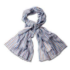 alpi 50-Gramm-Streifenschal - Ihr vielseitigster Streifenschal kommt vom Traditions-Krawattier. Hauchzartes italienisches Gewebe. Edler Schimmer.