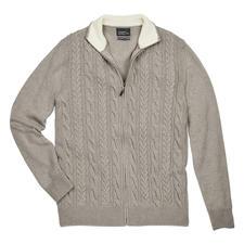 Maselli Zopfstrick- Zipp-Jacke - Die elegante Ausnahme unter den vielen rustikalen Zopfstrickjacken. Made in Italy von Maselli.