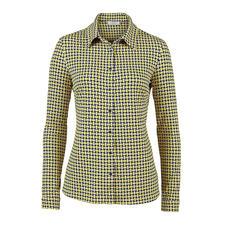 KD-Klaus Dilkrath Jersey-Bluse, gelb-blau - Die Hemdbluse aus seidigem Viskose-Jersey: Elegant wie eine Bluse. Bequem wie ein Shirt.