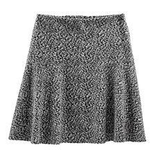 Baumwoll-Jersey-Schwingrock - Tweed-Optik auf neue, leichte Art – als softer Baumwoll-Jersey.