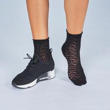Ash Knit-Sneakers, Schwarz - High-Class-Design vom Trend-Label. Top stylish: Puristisch cleanes Design.