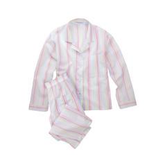 Novila Pastellstreifen-Pyjama - Der Pyjama für den ersten guten Eindruck am Morgen.