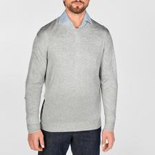 Pullover, Grau-Melange
