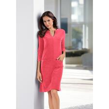 Frottier-Relax-Kleid - Bequem wie ein Homesuit. Aber viel charmanter.