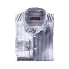 Seidiges Blockstreifenhemd - Unter den modischen Blockstreifen-Hemden eines der edelsten.