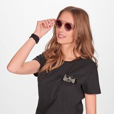 Nude-Colour-Sonnenbrille - Die elegante Sonnenbrille zum Nude-Trend. Angesagt runde Gläser. Retro-Form.