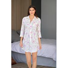 Ralph Lauren Flowers-Nightshirt - So stilvoll sind die wenigsten Nightshirts. Luftiger Batist aus Baumwolle und Viskose.