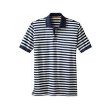 Piqué-Streifen-Poloshirt - Das Piqué-Shirt mit dem seidenweichen Unterschied.