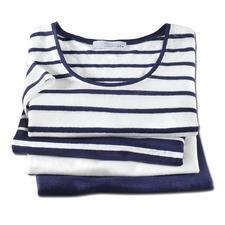 Knitted linen-Marine-T-Shirt - Außergewöhnlich gut, und doch selten zu finden: Ein T-Shirt aus gestricktem Leinen.