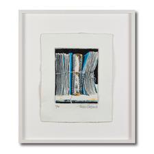 Thomas Kleemann – Archiv blau - Eine der dicksten Grafiken der Welt: Thomas Kleemanns erste dreidimensionale Edition. Handbemalt. Hergestellt in einem geheimen Verfahren. 40 Exemplare – mit Unikatcharakter. Maße: gerahmt 63 x 72 cm