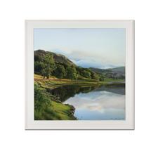 """Koshi Takagi: """"Spiegelungen 2"""" - Fotorealismus. Mit über 1 Million Pinselstrichen. Handübermalte Lithografie von Koshi Takagi. 30 Exemplare."""