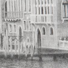 Über 1 Million handgemalte Bleistrichstriche lassen das Werk fotorealistisch wirken.