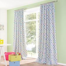 Vorhang Funny Dots - 1 Stück - Seltener Glücksgriff: Der Kinderzimmervorhang ohne Altersbegrenzung. Mit Verdunkelungsfunktion.