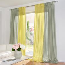 """Vorhang """"Aufwind"""", 1 Vorhang - Ein duftiger Inbetween mit seltenem Hochglanzeffekt."""