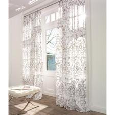 """Vorhang """"Lucido"""", 1 Vorhang - Reines Leinen, aufwändig von Hand bedruckt."""