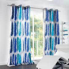 """Vorhang """"Feather"""", 1 Vorhang - Blockstreifen auf leichte Art."""