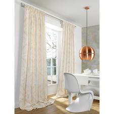 """Vorhang """"Tombre"""", 1 Vorhang - Zeitgemäße Farben. Trendige Metallic-Akzente.  Außergewöhnlich plastisches Dessin."""