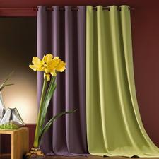 """Vorhang """"Darkly"""", 1 Vorhang - So freundlich und farbintensiv leuchtend kann ein Verdunkelungsvorhang sein."""