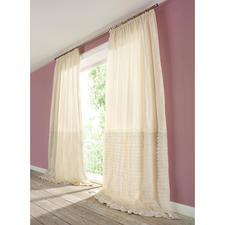 """Vorhang """"Desiderio"""", 1 Vorhang - Das neueste Stoffkunstwerk von Castello del Barro ist ein Traum aus Taft und Tüll."""