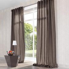 """Vorhang """"Mirage"""", 1 Vorhang - Seltenes Doppelgewebe aus duftigem Chiffon und lockerem Panama."""