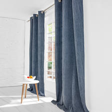 """Vorhang """"Stonewash"""", 1 Vorhang - Die lässige Optik verwaschenen Denims. Authentisch stonewashed."""