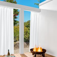 Vorhang Boston - 1 Stück - Der flammhemmende unter den Outdoor-Vorhängen. Schützt vor Sonne und Funkenflug.
