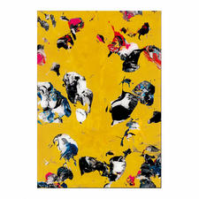 """Reverse Glasspainting No.7-2011"", 42 x 60 x 5 cm."