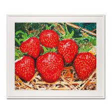 """Thomas Baumgärtel: """"o. T. Erdbeeren"""" - Die berühmteste Banane der Kunstwelt: Baumgärtels Erdbeeren bestehen aus hunderten Bananen. Edition """"o. T. Erdbeeren"""" – exklusiv für Pro-Idee. Handübersprüht. 20 Exemplare."""
