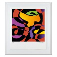 """R. O. Schabbach – inhale on red - Sonderedition """"inhale on red"""" von R. O. Schabbach – exklusiv bei Pro-Idee. Handübermalt. Nur 30 Exemplare. Maße: 60 x 70 cm"""