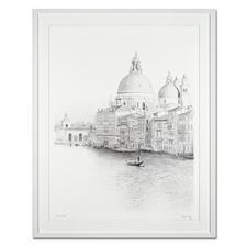 """Koshi Takagi: """"Venedig"""" - Fotorealistische Bleistiftzeichnung mit über 1 Million handgemalten Strichen. Die dritte Schwarz-Weiß-Edition Koshi Takagis (die erste ist bereits ausverkauft). 30 Exemplare."""
