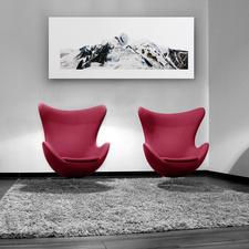 Mit 130 x 55 cm eine ideale Größe, um das Werk über Sitzgruppen, Sideboards und Sofas zu platzieren.
