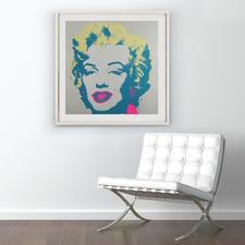 """Marilyn Diamond Dust"", gerahmt 112 x 112 cm."
