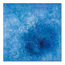 """Frühling am See"", 100 x 100 cm."