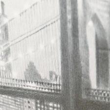 Über 1 Million handgemalte Pinselstriche lassen das Werk fotorealistisch wirken.