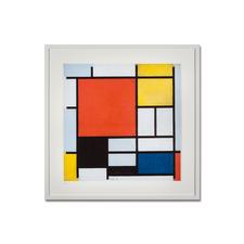 """Piet Mondrian – Komposition mit Rot, Gelb, Blau und Schwarz (1926) - Piet Mondrian """"Kompositon mit Rot, Gelb, Blau und Schwarz"""" (1926) als High-End Prints™. Endlich eine Qualität, die dem großen Meisterwerk tatsächlich gerecht wird. Maße: gerahmt 75 x 75 cm"""