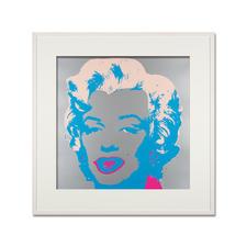 Andy Warhol – Marilyn silber - Sunday B. Morning Siebdruck auf 1,52 mm starkem Museumskarton. Maße: gerahmt 112 x 112 cm