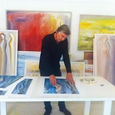 Stelios Vasikaridis in seinem Atelier.