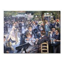"Zhong Lirong malt Renoir – Bal du Moulin de la Galette - Renoirs ""Bal du Moulin de la Galette"": Die perfekte Kunstkopie – 100 % von Hand in Öl gemalt."