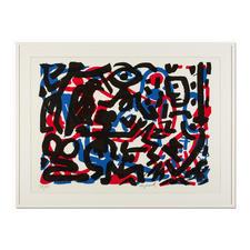 """A. R. Penck – Weiterarbeit - A. R. Penck in den wichtigsten Museen der Welt – und jetzt als limitierter Siebdruck bei Ihnen zu Hause. Die letzten 15 Exemplare der Edition """"Weiterarbeit"""" exklusiv bei Pro-Idee. Maße: 112 x 80,5 cm"""