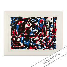 """A. R. Penck: """"Weiterarbeit"""" - A. R. Penck in den wichtigsten Museen der Welt – und jetzt als limitierter Siebdruck bei Ihnen zu Hause. Die letzten 15 Exemplare der Edition """"Weiterarbeit"""" exklusiv bei Pro-Idee."""